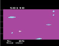 une photo d'écran de Meteor Defense sur Atari 2600