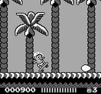 une photo d'écran de Adventure Island sur Nintendo Game Boy