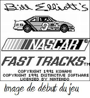 une photo d'écran de Bill Elliot s Nascar Fast Tracks sur Nintendo Game Boy