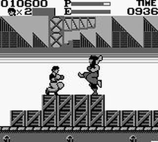 une photo d'écran de Kung Fu Master sur Nintendo Game Boy