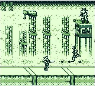 une photo d'écran de Probotector (Game Boy) sur Nintendo Game Boy