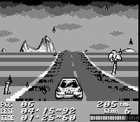 une photo d'écran de V-Rally Championship Edition sur Nintendo Game Boy