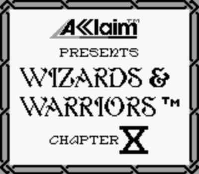 une photo d'écran de Wizards and Warriors X - Fortress of Fear sur Nintendo Game Boy