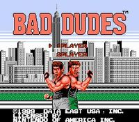 une photo d'écran de Bad Dudes VS Dragon Ninja sur Nintendo Nes