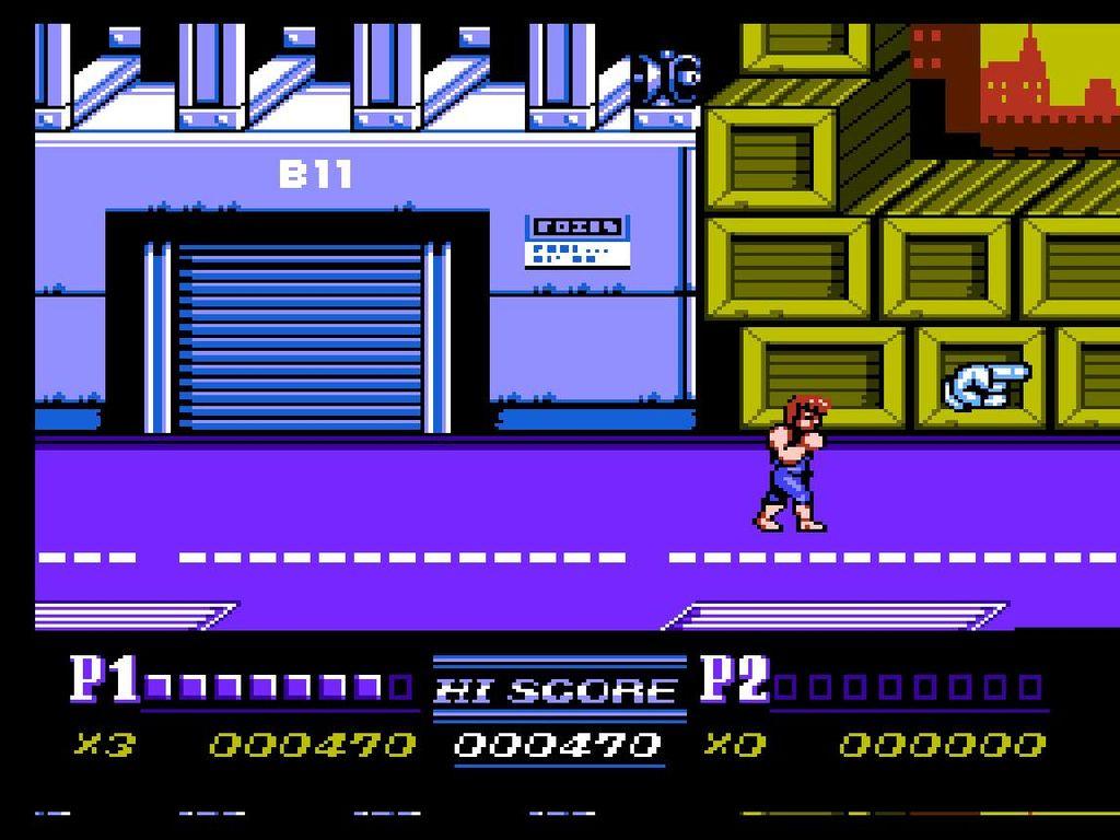 une photo d'écran de Double Dragon 2 - The Revenge sur Nintendo Nes