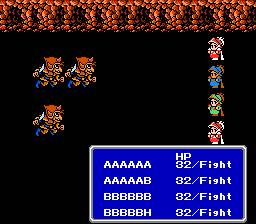 une photo d'écran de Final Fantasy 3 sur Nintendo Nes