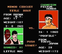 Mike Tyson s Punch-Out sur Nintendo Nes