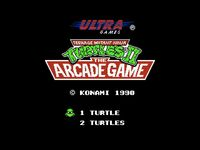 Teenage Mutant Hero Turtles II - The Arcade Game, capture décran