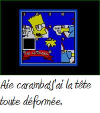 une photo d'écran de The Simpsons - Bart Vs the World sur Nintendo Nes