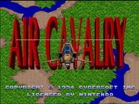Air Cavalry sur Nintendo Super Nes