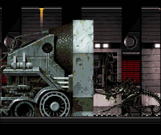 une photo d'écran de Alien 3 sur Nintendo Super Nes