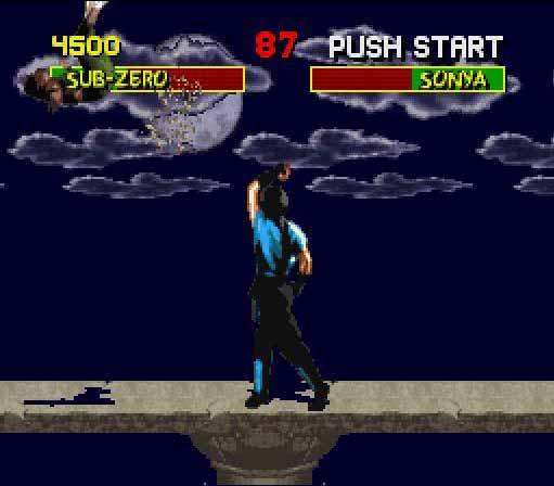 une photo d'écran de Mortal Kombat sur Nintendo Super Nes