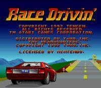 Race Drivin, capture décran