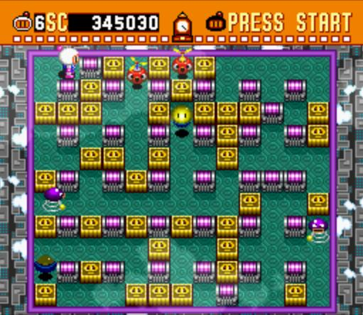 une photo d'�cran de Super Bomberman sur Nintendo Super Nes