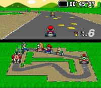 Super Mario Kart, capture d'écran
