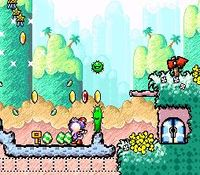 une photo d'écran de Super Mario World 2 - Yoshi s Island sur Nintendo Super Nes