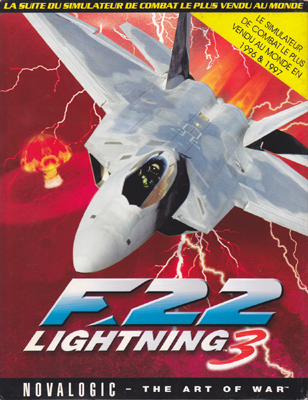 Photo de la boite de F-22 Lightning 3