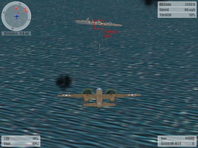 une photo d'écran de Pearl Harbor - Strike at Dawn sur PC
