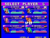 Windjammers, capture d'écran
