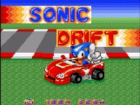 une photo d'écran de Sonic Drift sur Sega Game Gear