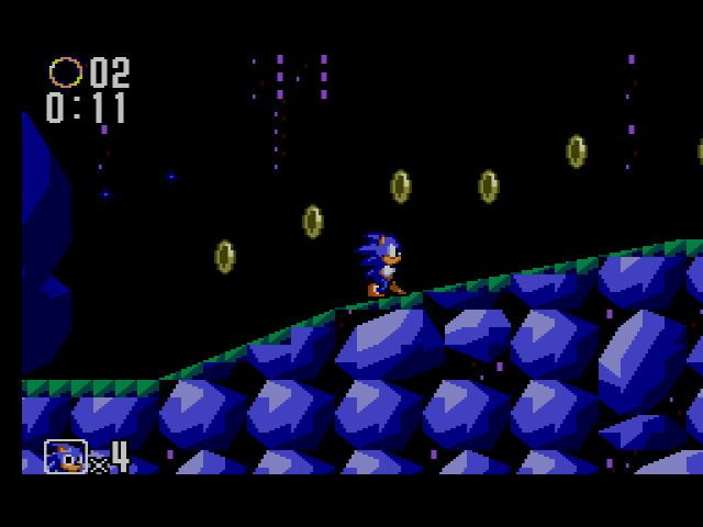 une photo d'écran de Sonic the Hedgehog 2 (Master System) sur Sega Master System
