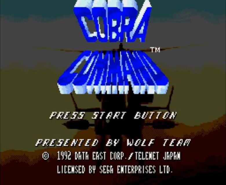 une photo d'écran de Cobra Command sur Sega Mega-CD