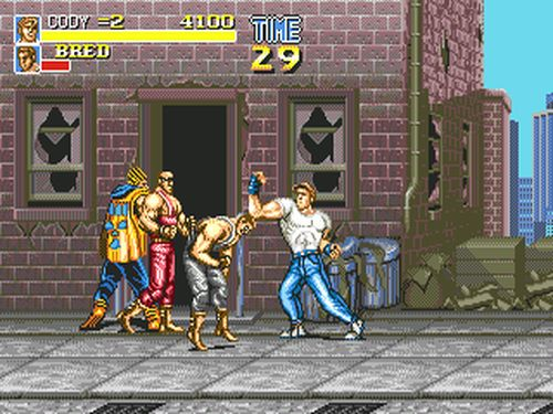 une photo d'écran de Final Fight CD sur Sega Mega-CD