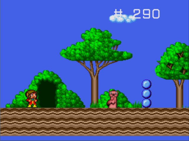 une photo d'écran de Alex Kidd in the Enchanted Castle sur Sega Megadrive