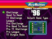 Micro Machines Turbo Tournament 96, capture d'écran