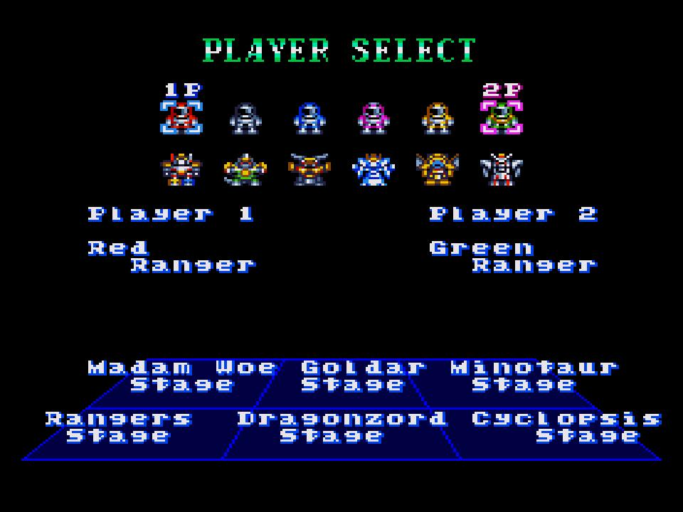 une photo d'écran de Mighty Morphin Power Rangers (Megadrive) sur Sega Megadrive