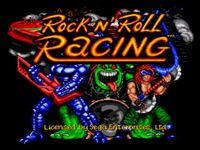 une photo d'écran de Rock N Roll Racing sur Sega Megadrive