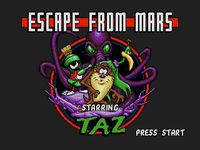 une photo d'écran de Taz in Escape From Mars sur Sega Megadrive