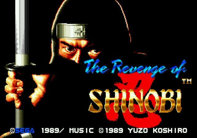 une photo d'écran de The Revenge of Shinobi sur Sega Megadrive