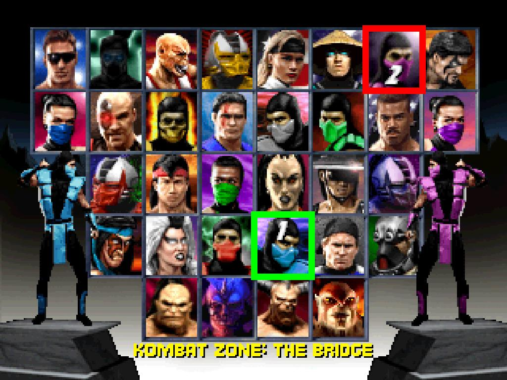 une photo d'écran de Mortal Kombat Trilogy sur Sega Saturn