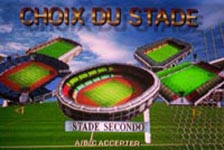 une photo d'écran de Sega Worldwide Soccer 98 sur Sega Saturn
