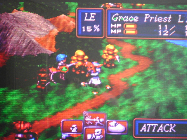 une photo d'écran de Shining Force 3 sur Sega Saturn