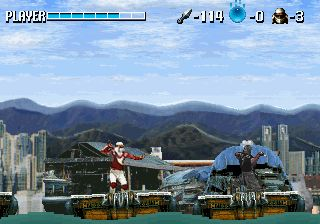 une photo d'écran de Shinobi X sur Sega Saturn