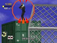 une photo d'écran de Virtua Cop sur Sega Saturn