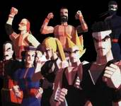 une photo d'écran de Virtua Fighter sur Sega Saturn