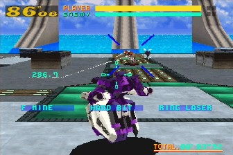 une photo d'écran de Virtual On - Cyber Troopers sur Sega Saturn