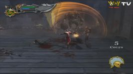 une photo d'écran de God of War sur Sony Playstation 2