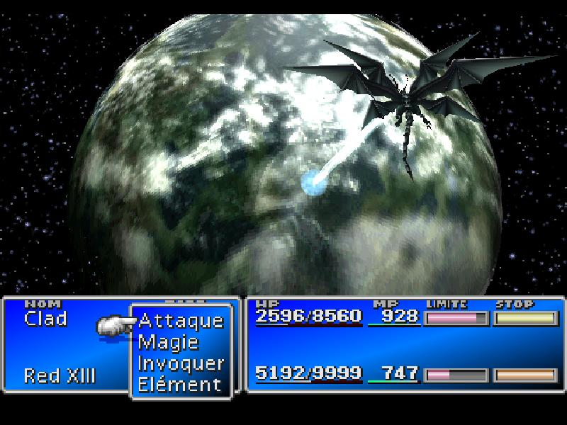 une photo d'écran de Final Fantasy 7 sur Sony Playstation