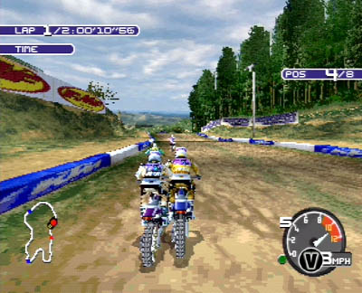 une photo d'écran de Moto Racer 2 sur Sony Playstation