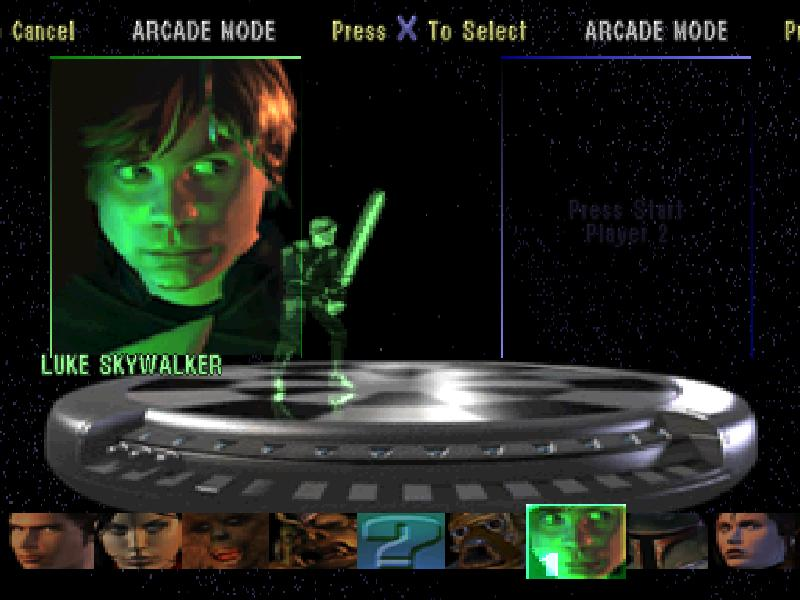 une photo d'écran de Star Wars - Masters of Teras Kasi sur Sony Playstation