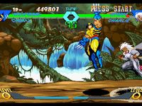 une photo d'�cran de X-Men VS Street Fighter sur Sony Playstation