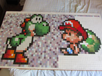 pixel art r alisation d 39 une mosa que yoshi. Black Bedroom Furniture Sets. Home Design Ideas