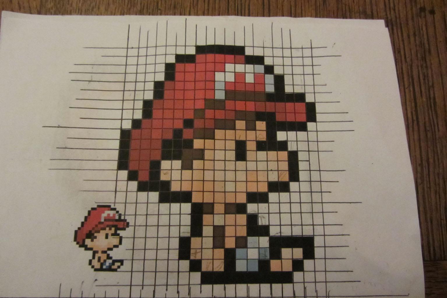 Dessin Mario Pixel Art