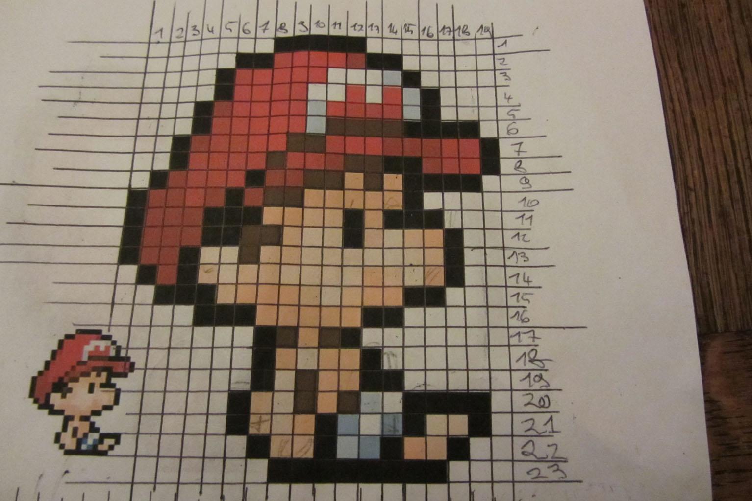 Pixel Art Réalisation Dune Mosaïque Yoshi