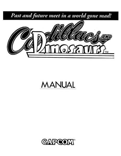 Notice De Cadillacs And Dinosaurs Sur Arcade Manuel De